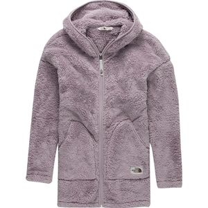 The North Face Campshire Long Full-Zip Hooded Fleece Jacket - Girls'