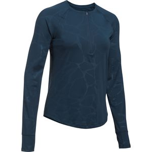 Under Armour Fly By Embossed 1/2-Zip Long-Sleeve Shirt - Women's