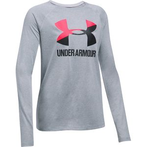Under Armour Big Logo Long-Sleeve T-Shirt - Girls'
