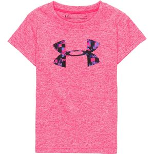 Under Armour Overlay Print Logo Short-Sleeve Top - Girls'