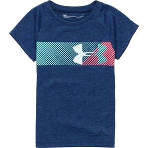 Under Armour Split Logo Short-Sleeve Top - Girls'