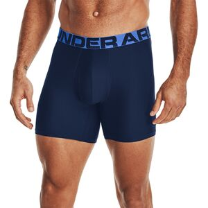 Mens Canyon Green//Black 2-Pack L Under Armour Tech 6in Underwear