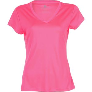 Velocity Missy Solid V-Neck Shirt - Short Sleeve - Women's