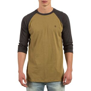 Volcom Solid Heather Raglan 3/4-Sleeve T-Shirt - Men's