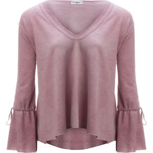 Violet Moon Oil Wash V-Neck Bell Sleeve Top - Women's