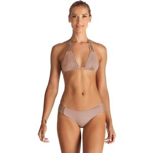 Vitamin A Jaydah Braid Full Cut Bikini Bottom - Women's
