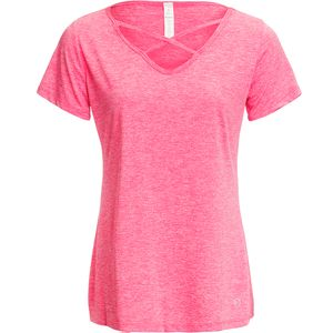 Vogo Activewear Short Sleeve X Neck Top - Women's