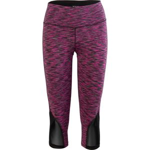 Vogo Activewear Space Dye Capri with Mesh Inserts - Women's