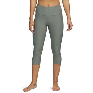 Vogo Activewear Solid Capri With Sport Mesh Pockets - Women's