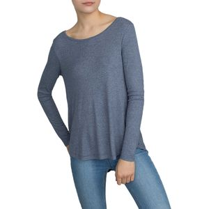 White + Warren Rib Jersey Swing Crewneck Shirt - Women's