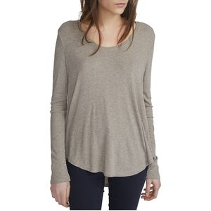 White + Warren Swing Hem Soft V-Neck - Women's