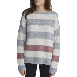 White + Warren Bold Stripe Bateauneck Sweater - Women's