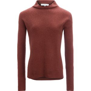 White + Warren Horizontal Rib Standneck Sweater - Women's