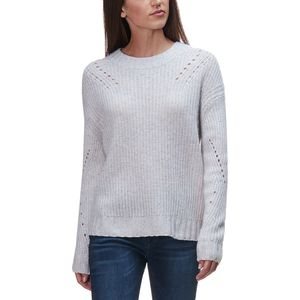 White + Warren Directional Rib Tweed Crew-Neck Sweater - Women's