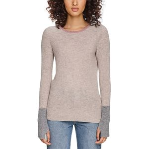 White + Warren Blocked Thermal Crew Sweater - Women's