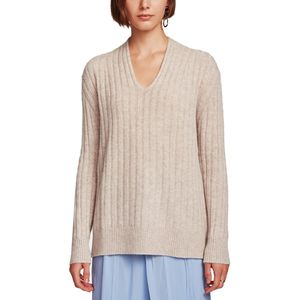 White + Warren Plush Rib V-Neck Sweater - Women's