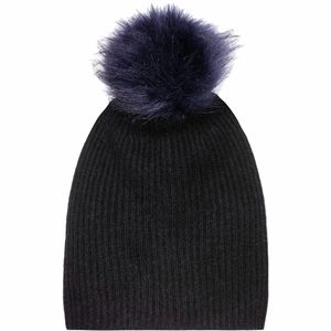 White + Warren Plush Rib Pom Beanie - Women's