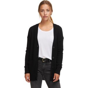 White + Warren Oversized Boyfriend Cardigan - Women's