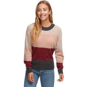 White + Warren Block Stripe Crewneck Sweater - Women's