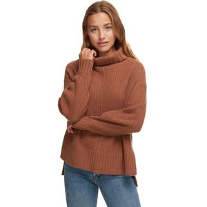 White + Warren Oversized Rib Turtleneck Sweater - Women's
