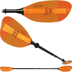 Werner Shuna Fiberglass 2-Piece Paddle - Straight Shaft
