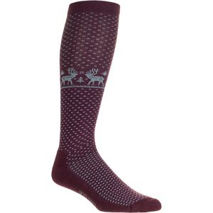 Woolrich Novelty Merino Knee Hi Deer Sock