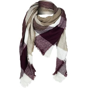 Woolrich Open Check Ombre Eternity Scarf