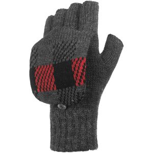 Woolrich Plaid Pop Over Mitten
