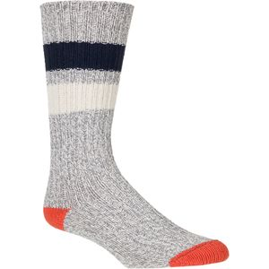 Woolrich 60 Needle Camp Striped Sock