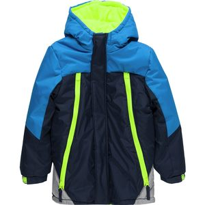 Wippette Color Block Hooded Jacket with Zipper Pockets - Toddler Boys'