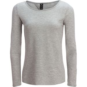 Yogalicious Teardrop Long-Sleeve Back Crew Top - Women's