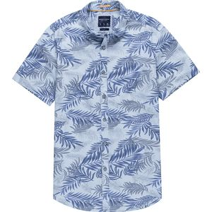 Zip Code Patterned Short-Sleeve Shirt - Men's