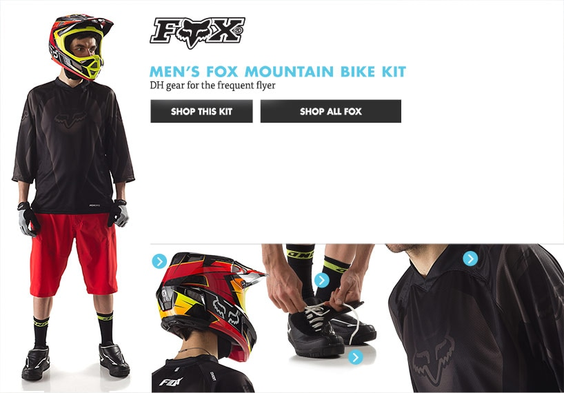 Mens Fox Mountain Bike Kit