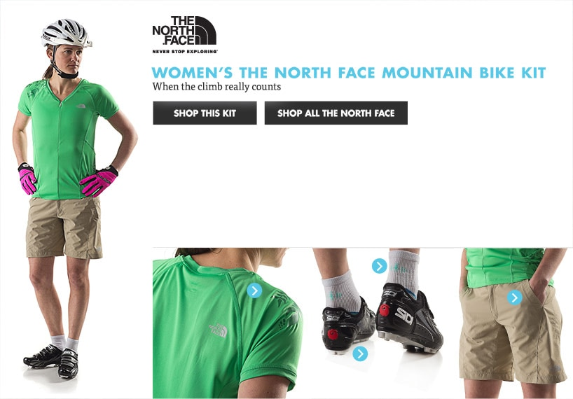 Womens The North Face Mountain Bike Kit