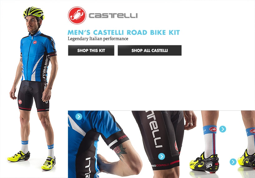 Mens Castelli Road Bike Kit