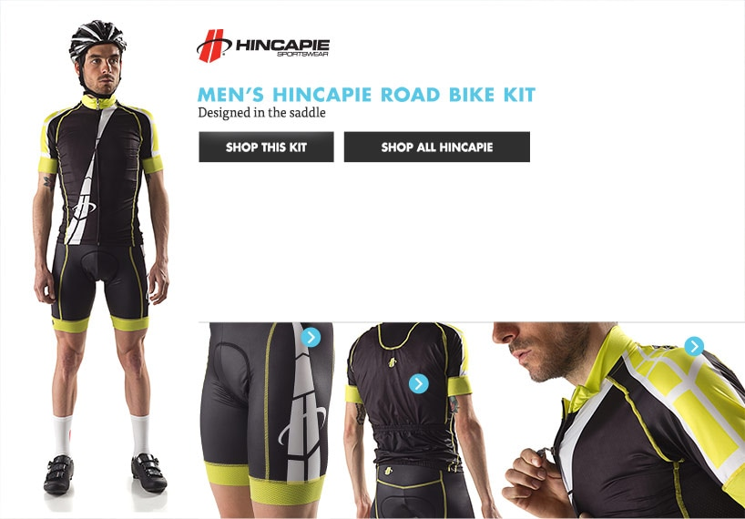 Mens Hincapie Road Bike Kit
