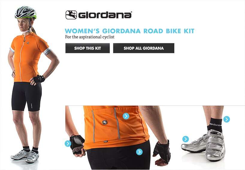 Womens Giordana Road Bike Kit