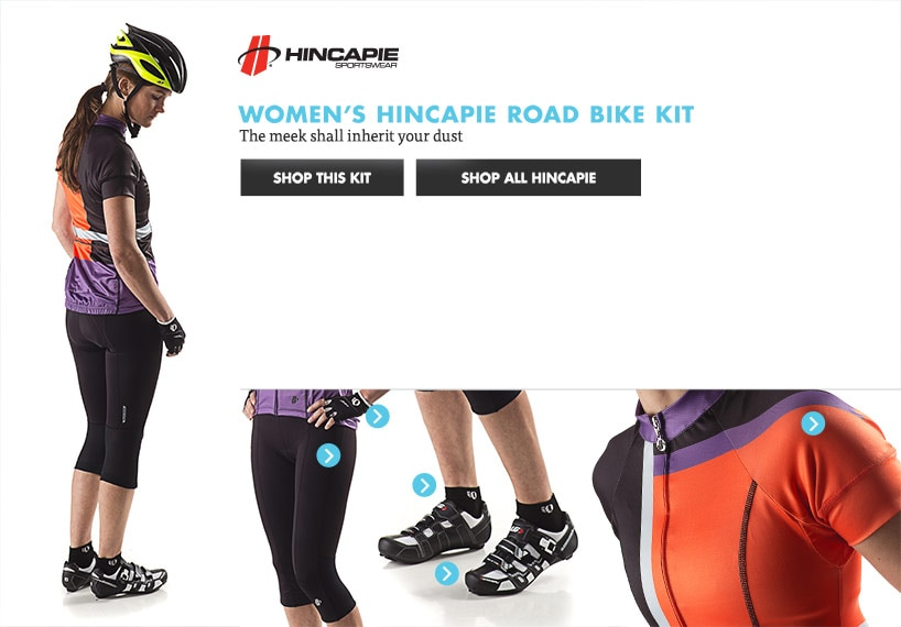 Womens Hincapie Road Bike Kit